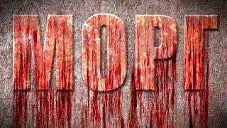 Эффекты фотошоп. Кровавый текст