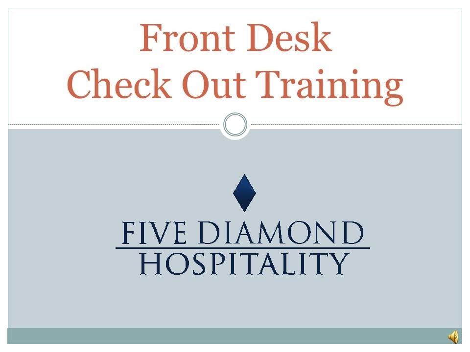 Hotel Front Desk Check Out Training