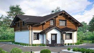 Проект дома 10х10 с мансардой из бруса в русском стиле.