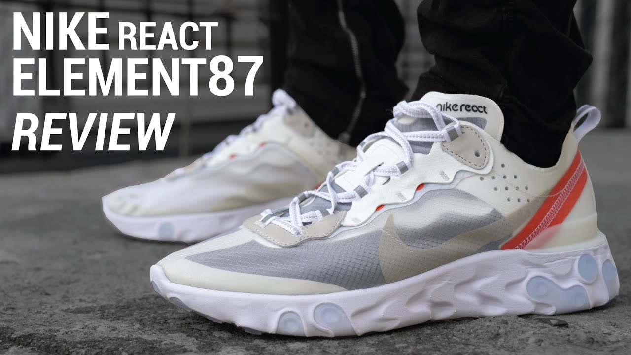 best website 5caec 5b86d NIKE REACT ELEMENT 87 SAIL (NIKE REACT REVIEW   ON FEET)