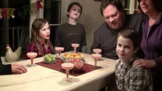 Luke's Birthday Salsa, Guacamole And Virgin Strawberry-banana Margarita