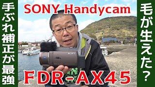 毛が生えた? SONY Handycam FDR-AX45 はやっぱり空間光学手ブレ補正が魅力的だけど…レビューしてたら帰りの船に乗り遅れそうな感じ