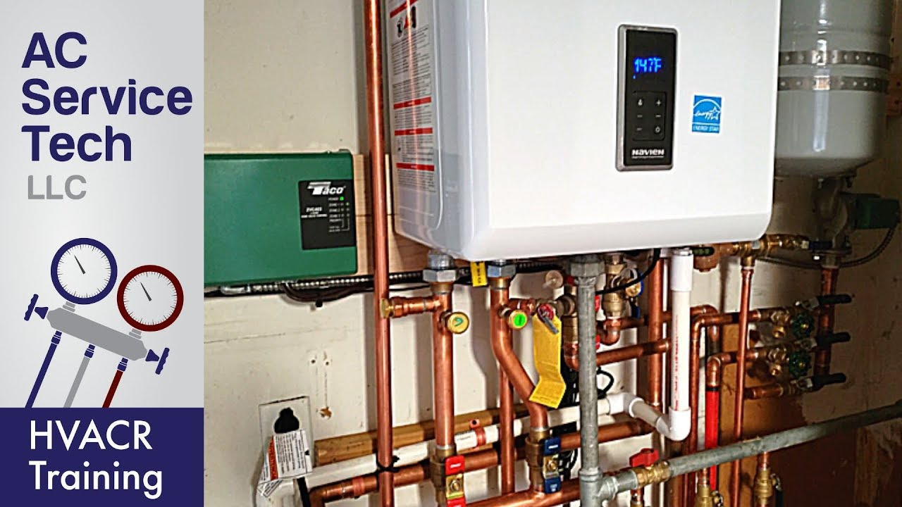 navien piping diagram installation of a tankless boiler  water heater youtube  tankless boiler  water heater