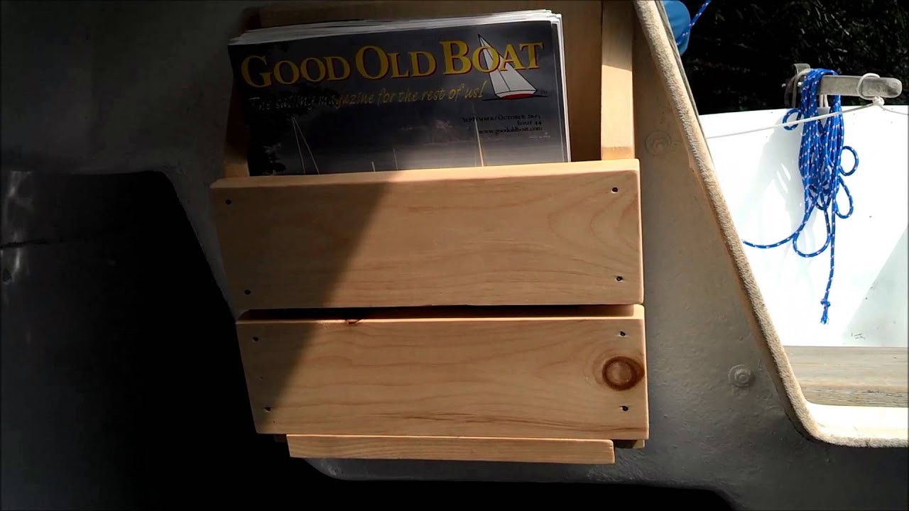 diy magazine rack for boat cheap and easy youtube