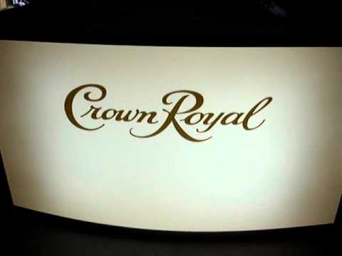 Curved Light Up Bar with Custom Logo For Crown Royal