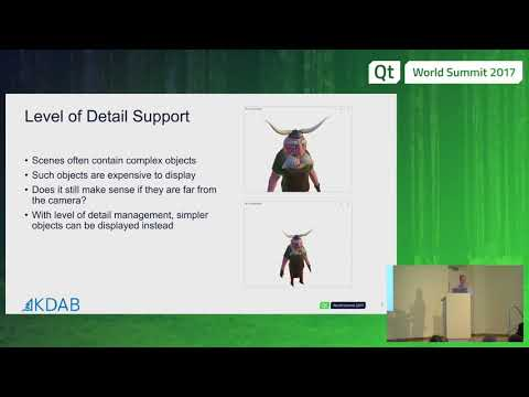 QtWS17 - What's new in Qt 3D? Sean Harmer, KDAB
