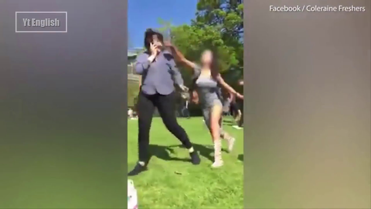 Superb Mass Fights Between Women And Some Men At The Botanic Gardens In Belfast