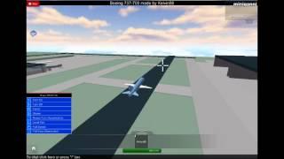 boeing 737-200 de roblox Thomsonfly au décollage de l'aéroport de Bradford