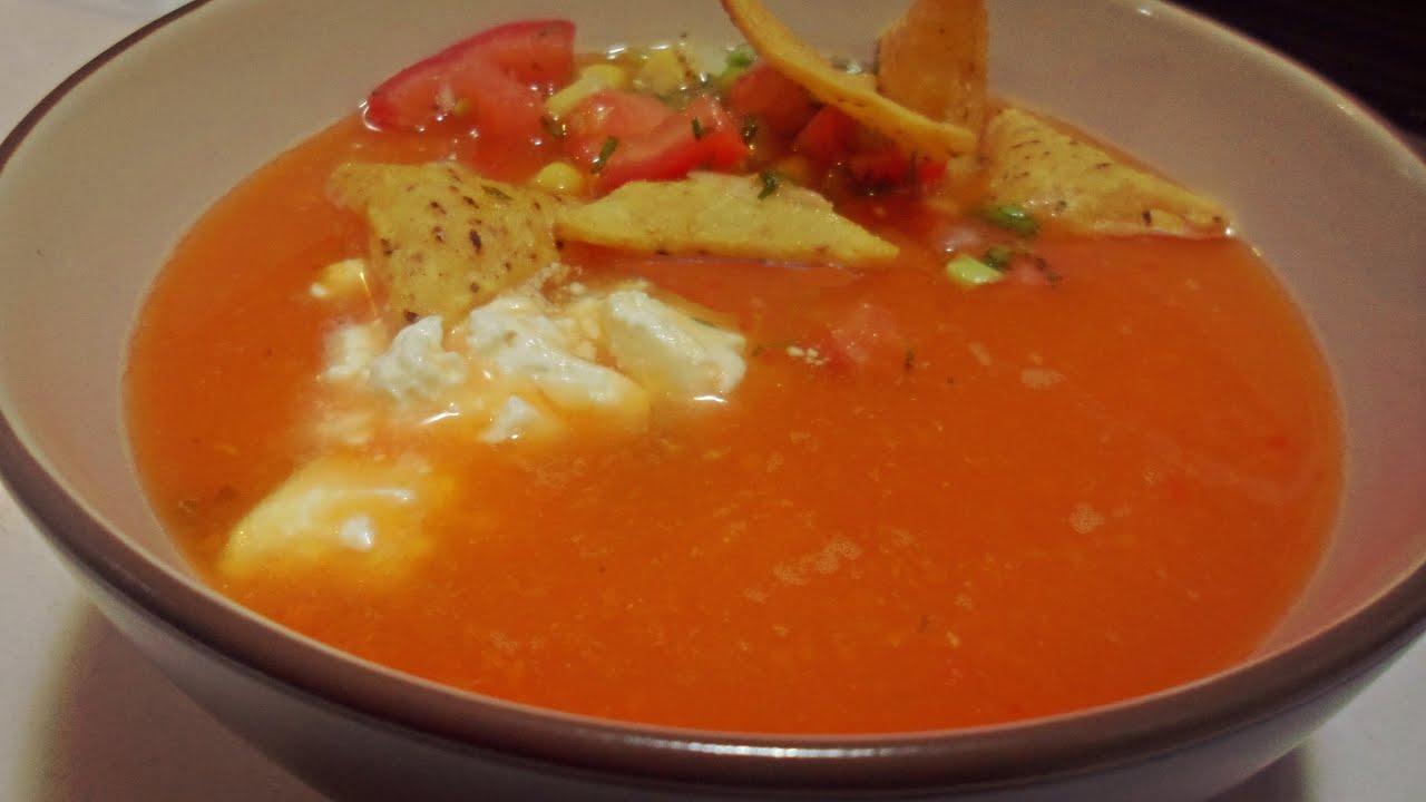 como hacer sopa de tomate mexicana