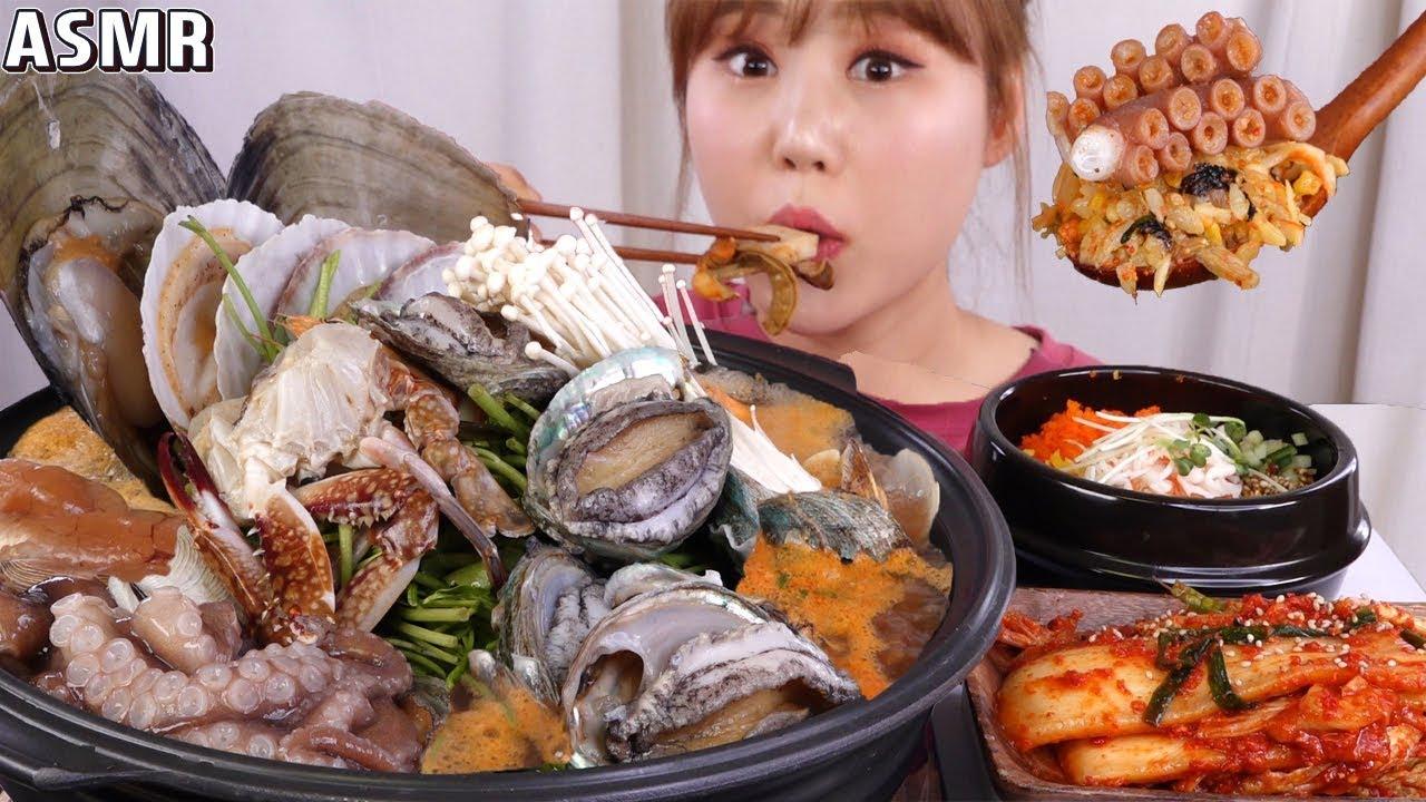 ASMR Mukbang 용인 신봉동 맛집, 연평도해물탕에서 푸짐한 해물탕을 사먹어 봤어요!!