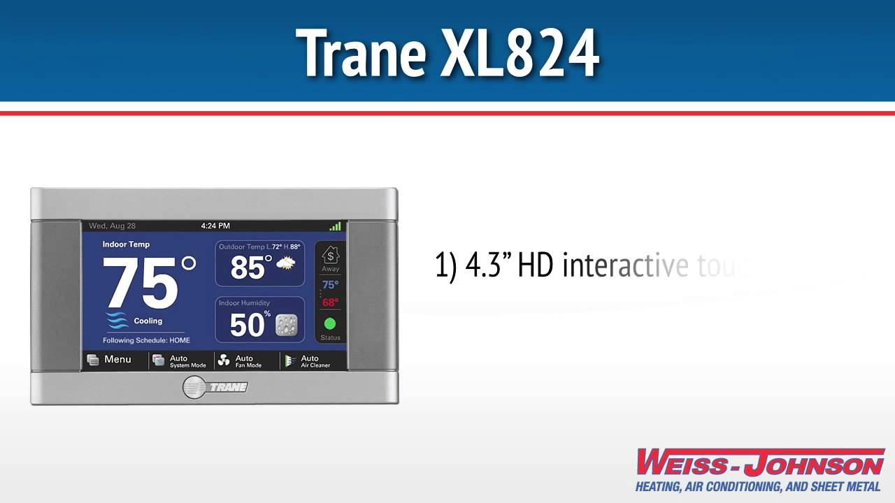trane 824 thermostat. trane xl824 thermostat 824 r