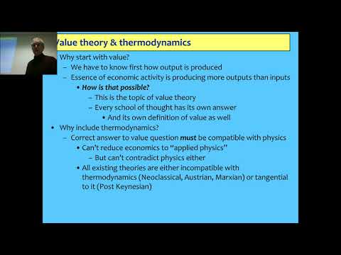 Keen 2018 Masters Lecture 01 Thermodynamics And Value Theory