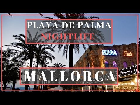Playa De Palma - Saturday Evening Promenade Walk, El Arenal Clubs And Nightlife - Mallorca, Spain