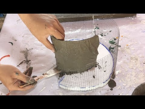 DIY - ❤️ Cement craft ideas ❤️ - beautiful and easy -  flower pot
