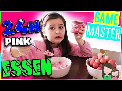 GAME MASTER zwingt Ava zu 24h NUR PINKES ESSEN 🧁 Alles Ava