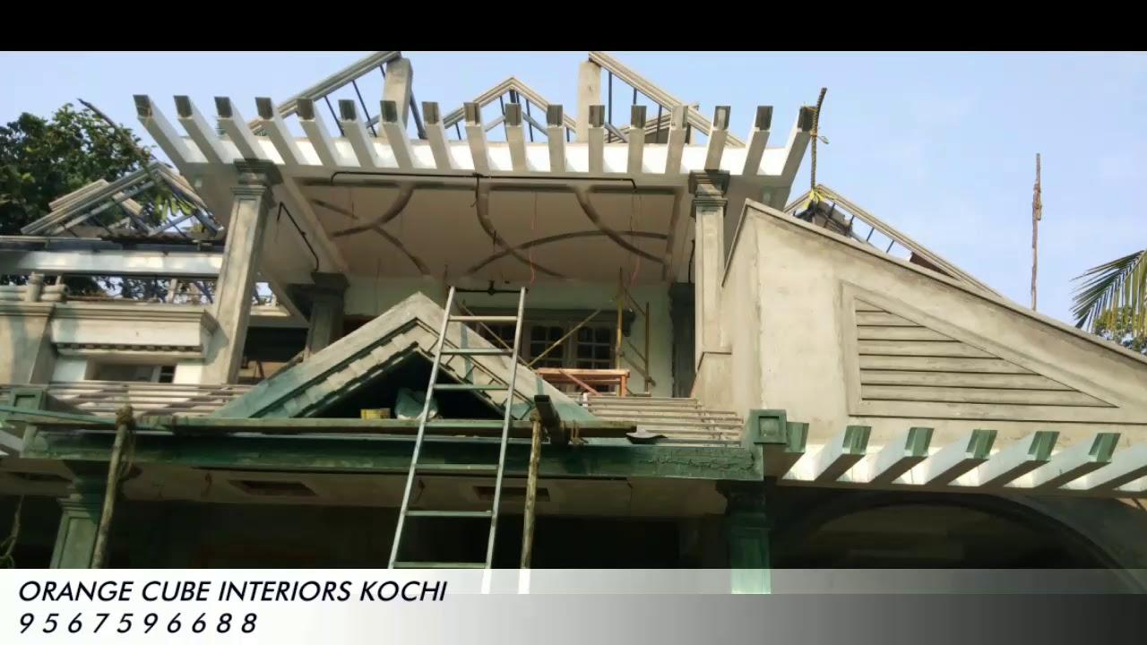 Jipsum ceiling design ORANGE CUBE INTERIORS kochi - YouTube