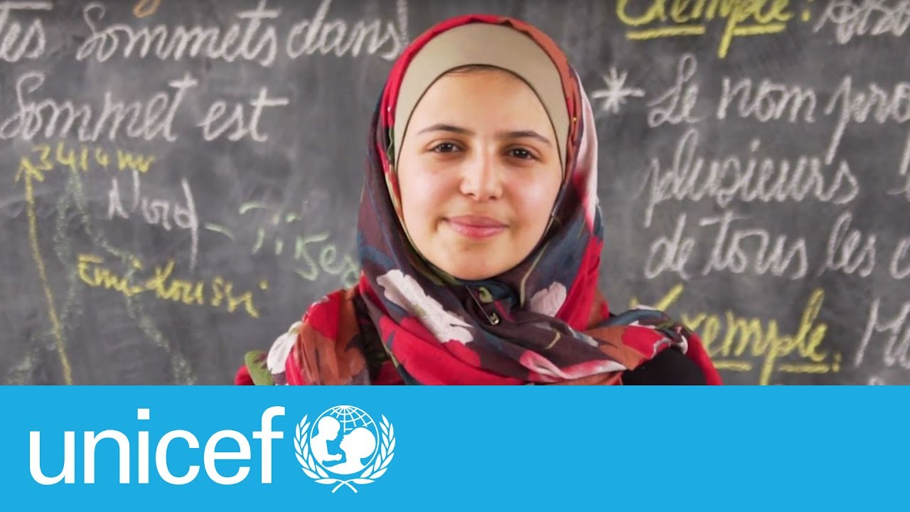 Powerful letter by Syrian refugee and activist Muzoon | UNICEF