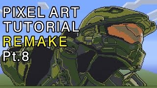 Minecraft Pixel Art Tutorial - Master Chief Halo Remake Part 8