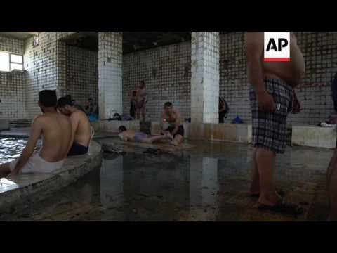 Sulphur spa proves popular with forces fighting in Mosul