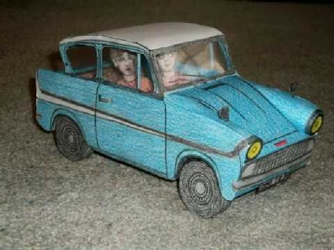 paper model of the flying ford anglia car from harry potter and the chamber of secrets youtube. Black Bedroom Furniture Sets. Home Design Ideas
