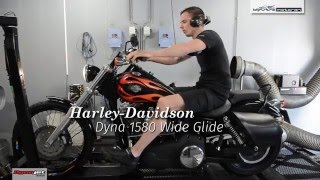 dynojet testrun harley davidson dyna 1580 wide glide klijnstra motoren