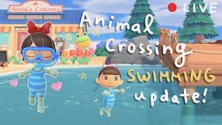 Animal Crossing New Horizons *NEW* Summer Update! (Swimming / Diving!) 🐚