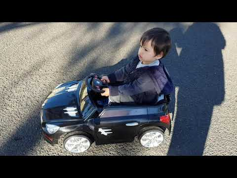 Cj is learning how to drive his car. Dad watching cj drive.cj shows Stephen and Charlotte his car.