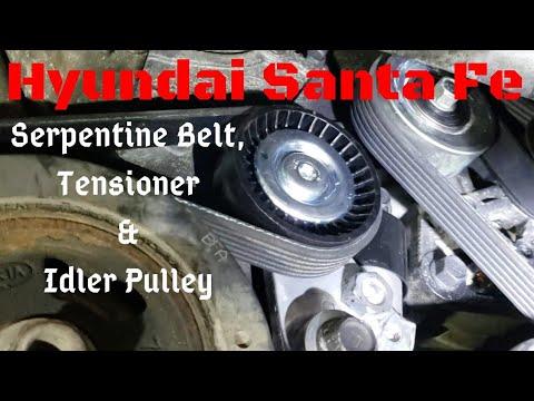 Hyundai Santa Fe // How To Install // Serpentine Belt, Tensioner & Idler Pulley