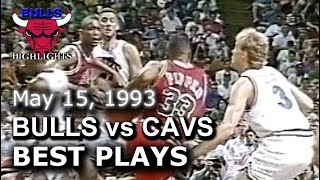 1993 Bulls vs Cavaliers game 3 highlights