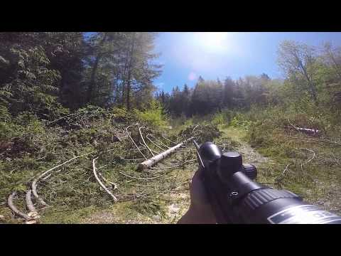 Bear Charges Hunter After First Shot