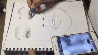 Winnie Harlow's Eyes Speed Drawing