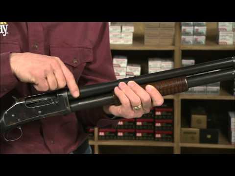 The Winchester Model 1897 Riot Pump Action Shotgun - YouTube