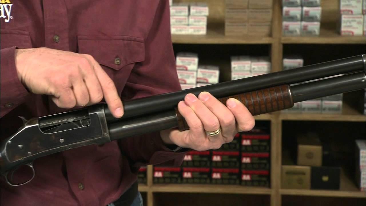 The Winchester Model 1897 Riot Pump Action Shotgun