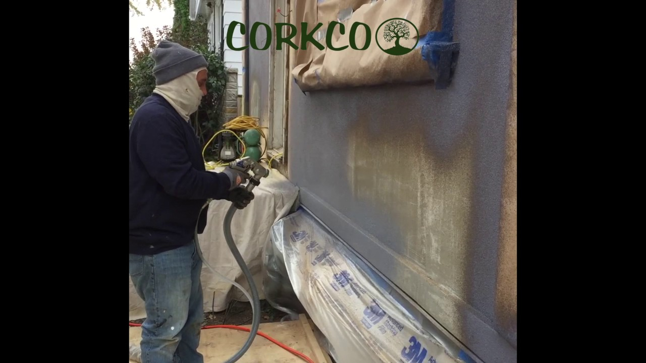 Cork Spray After Siding Youtube