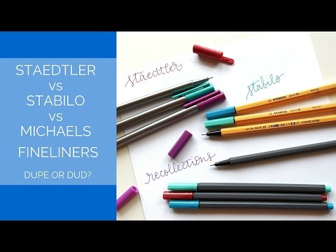 Staedtler vs Michaels Recollection vs Stabilo Fineliners: Dupe or Dud?