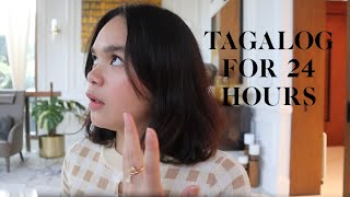 TAGALOG FOR 24 HOURS!! *CLOSET TOUR*  Mary Pacquiao and Family