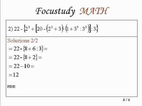 Espressioni Aritmetiche Esercizi Con Soluzione 4 Youtube