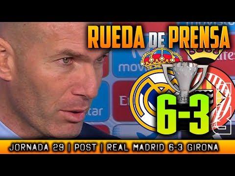Real Madrid 6-3 Girona Rueda de prensa de Zidane (18/03/2018)   POST LIGA JORNADA 29
