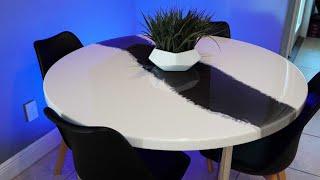 Epoxy Dining Table build - Resin art   DIY CREATORS