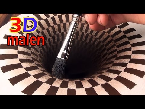 3d zeichnung loch illusionsmalerei youtube for Loch im boden 3d