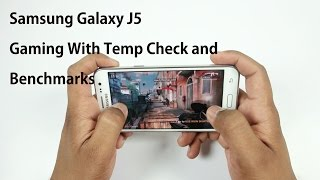 Samsung Galaxy J5 Gaming (HD Games) With Temp check and Benchmarks
