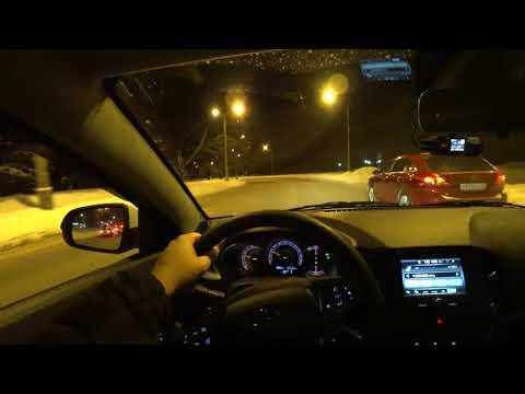 Lada Vesta SW Cross на роботе. Ночная поездка от первого лица. Поедем и поговорим об автомобиле.