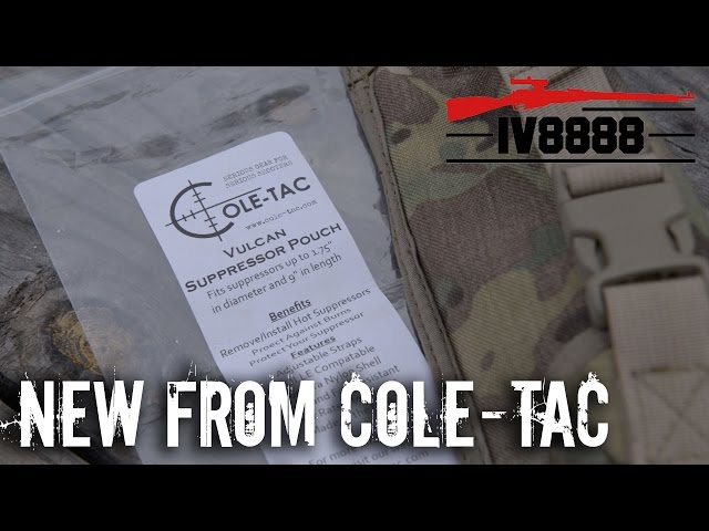 New for 2017: Cole-Tac Vulcan Suppressor Pouch