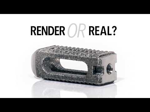 Render or Real? What can Metal 3D Printing do for the Medical field?
