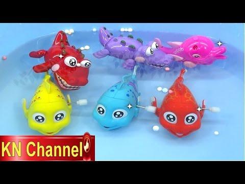 Đồ chơi trẻ em Bé Na Câu Cá tập 9 Cá Hề & Cá Sấu vui nhộn Kỹ năng sống Fishing toy playset Kids toys