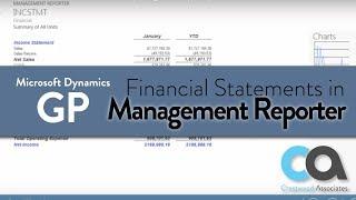 Microsoft Dynamics GP - Financial Statements (Management Reporter)