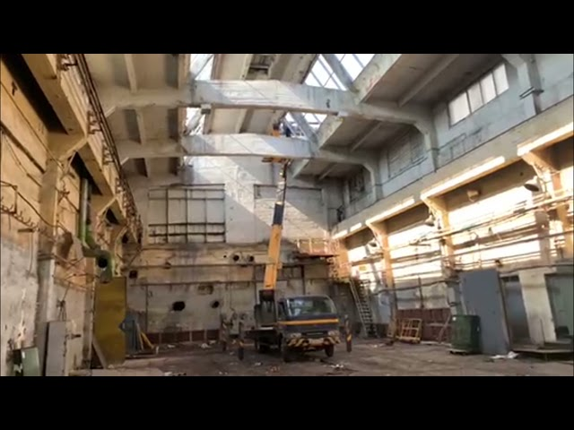 Остекление зенитного фонаря в промышленном здании ч 4, стеклопакеты