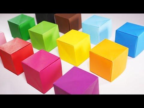 Origami Cube Box (Jeremy Shafer) - Paper Folding / Papier Falten / 종이접기 - Paper Crafts 1101 おりがみ