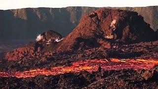 Volcano erupts on La Reunion island
