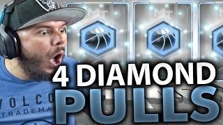 OMG 4 DIAMOND PULLS!! NBA 2K17 MY TEAM PACK OPENING